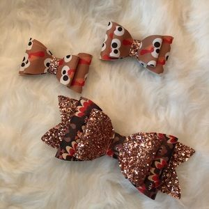 Thanksgiving Day Bow Set🦃